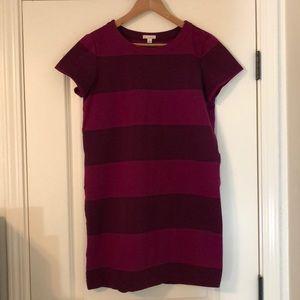 Burgundy Mod Shift Dress